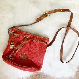 Vintage red Dooney & Bourke drawstring bag